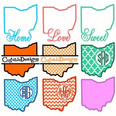Ohio Home State Svg Cuttable Designs