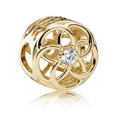 Pandora 14ct Gold Loving Bloom Charm 750598CZ