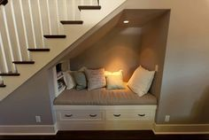 Reading nook!  Too bad I don't have stairs :p