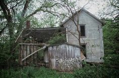 'we never felt the wind, rain and destruction but we sure feel there [sic] pain and sorrow'. picture by cari wayman. Abandoned Houses, Abandoned Places, Black Water, Architecture Old, Destruction, High Quality Images, Iowa, Shed, Felt