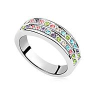 Brilliant Alloy Platinum Plated And Crystal Women's Ring(More Colors). Get awesome discounts up to 80% Off at Light in the Box using Coupons.