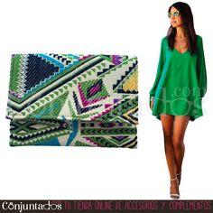Un precioso #bolso #étnico, alegre y colorido para este verano. Úsalo como #cartera de #mano o como #bandolera ★ 14,95 € en https://www.conjuntados.com/es/bolso-de-mano-bandolera-de-estilo-etnico-en-tonos-verde-pistacho-turquesa-y-amarillo.html ★ #novedades #handbag #purse #crossbodybag #conjuntados #conjuntada #accesorios #lowcost #complementos #moda #fashion #fashionadicct #picoftheday #outfit #estilo #style #GustosParaTodas #ParaTodosLosGustos