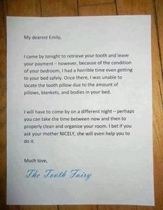 a link to funny ideas like this parent who teamed up with the tooth fairy to get what they wanted funny ideas and tips on parenting today