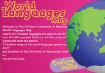 Link til websiden World Languages Map - et interaktivt verdenskort med videoklip og information om sprog fra forskellige dele af verden