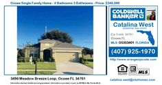 Homes for Sale in Ocoee - 3496 Meadow Breeze Loop, Ocoee FL 34761 Single Family Home For Sale in Zipcode 34761 3496 Meadow Breeze Loop, Ocoee FL 34761 - ( Bryn…