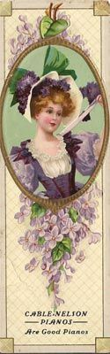victorian bookmark