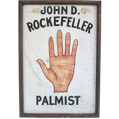 Palm Reader Sign Cheiro 1930s ❤ liked on Polyvore featuring home, home decor, wall art, fillers, pictures, decor, misc, object and painted signs