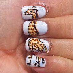 #nailart Giraffe #nails by #@just_alexiz