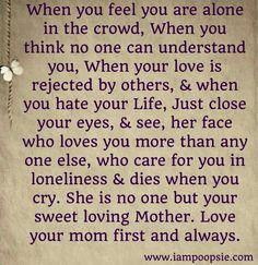Mother quote via www.IamPoopsie.com