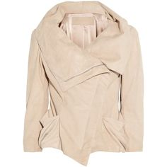 Donna Karan Metallic suede jacket (£1,031) ❤ liked on Polyvore featuring outerwear, jackets, coats, coats & jackets, antique rose, asymmetrical zipper jacket, suede jackets, zipper jacket, donna karan jacket and zip jacket