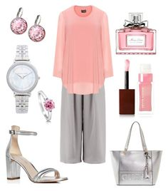 """""""Plus Blush"""" by colesumler on Polyvore featuring Boohoo, Samoon, Kenneth Cole, GUESS, Swarovski, Michael Kors, BERRICLE, Kevyn Aucoin and Christian Dior"""