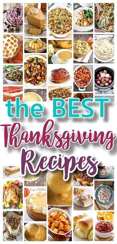 The BEST Thanksgiving Dinner Holiday Favorite Menu Recipes {Classics, Improved and Traditional Delicious Dishes}