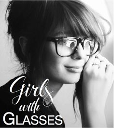 Glasses can be cute and stylish
