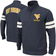 48f9c787111 West Virginia Mountaineers Flex Quarter Zip Fleece Pullover - Navy Blue