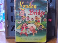 London Bridge Music Maker Book by ifoundthat on Etsy, $10.00