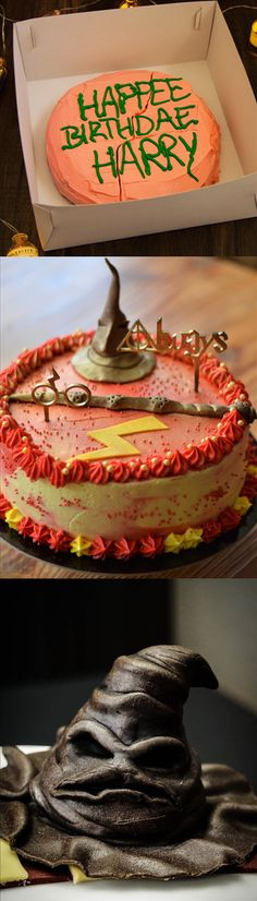 Book Your Birthday With A Harry Potter Theme with BookEventz! #HarrypotterBirthday #SortingHatCake #wand #spark #lightningolt #HagridCake #BookEventz #Ron #Hermoine #TheSorcerersStone #ChocolateCake #IcingOnCake #Fondent