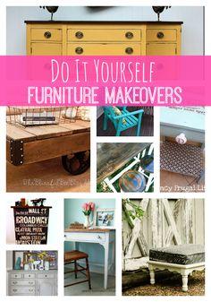 DIY Furniture Makeovers  http://princesspinkygirl.com/diy-furniture-makeovers/