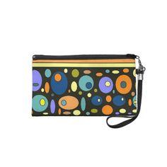 Abstract Circles Stripes Wristlet Bag - #fashion #accessory