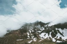 Rocky mountains and clouds Landscape by e v e r s t on @creativemarket