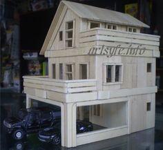 Arts & Crafts - Popsicle Sticks Modern House