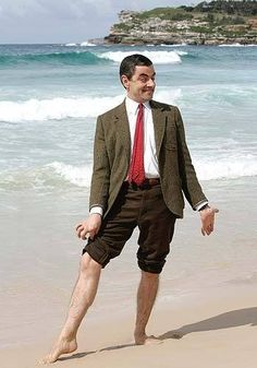 Summer isn't official until Mr. Bean wears shorts or rolls up his pants.