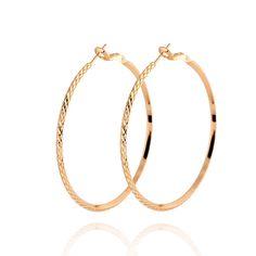 Top Quality Jewelry Accessories Earring Hoop,#Women #Earrings,#18K #Gold Plated Large #Exaggerated #Hoop #Earrings