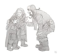 """""""Lookie here, lads! I made a dragon! What'cha think o' it?""""  So adorable!!! (I love Bofur so much =)"""