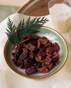 Spicy Pecans. Follow @MS_Living on Pinterest for more exclusive recipes and inspiration from the editors of Martha Stewart Living.