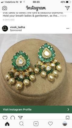 Gold Jewelry For Men Refferal: 2689708593 Kids Gold Jewellery, Gold Jewellery Design, Rose Gold Jewelry, Jewelry Design Earrings, Ear Jewelry, Traditional Earrings, Indian Wedding Jewelry, Jewelry Model, Jewelry Collection