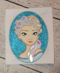 Frozen Elsa Cameo Applique Embroidery Design 4x4 5x7 6x10 Olaf Anna Let it go INSTANT DOWNLOAD