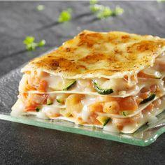 Lasagne courgettes et crevettes