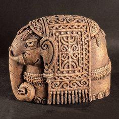 Керамическая статуэтка «Слон» — работа дня на Ярмарке Мастеров.  Узнать цену и купить: http://www.livemaster.ru/roseusbarrus  Handmade ceramic figurine #handmade #craft #art #design #ceramics #clay #figurine #home #homedecor #livemaster #ярмаркамастеров #ручнаяработа #дизайн #хендмейд #керамика #статуэтка #искусство