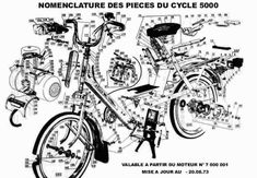 Nomenclature des pièces du cyclo 5000 Lotus 7, Ducati, Cars And Motorcycles, Site Web, Drawings, Engin, Classic, Vespa, Motorbikes