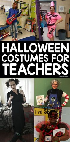 Halloween Costumes for Teachers Need some easy and appropriate costume ideas for Halloween? Here is a great roundup of spooktacular Halloween costumes for teachers! Halloween Costumes For Teachers Easy, Work Appropriate Halloween Costumes, Halloween Costumes For Work, Teacher Costumes, Halloween Kostüm, Couple Halloween Costumes, Halloween Makeup, Vintage Halloween, Halloween Activities