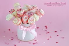 Marshmallow and white Chocolate Pops