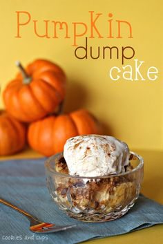 Pumpkin Dump Cake | www.cookiesandcups.com | #recipe #pumpkin #easy #cake