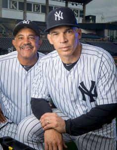 Joe Girardi and Tony Pena Go Yankees, Yankees News, New York Yankees Baseball, Major League Baseball Teams, Mlb Teams, Sports Teams, Yankees Pictures, Equipo Milwaukee Brewers, Baseball Stuff