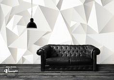 Stickers muraux 3D en formes géométriques sympas