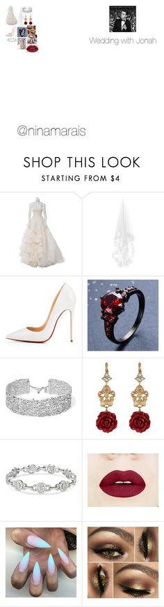"""Wedding with Jonah"" by ninamarais on Polyvore featuring Oscar de la Renta, Christian Louboutin, DANNIJO and Dolce&Gabbana"