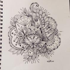 Art by Krisa Bousquet Zentangle Drawings, Zentangle Patterns, Zentangles, Doodle Art Journals, Tangle Art, Doodle Inspiration, Doodle Designs, Flower Doodles, Zen Doodle