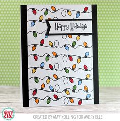 Amy Kolling for Avery Elle Retro Ornaments Clear Stamps Pierced Banner Layers Elle-ments