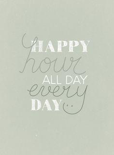 vtwonen 7 2015 happy page - Happy hour all day every day! Print uit, stijl op jouw manier, maak een foto en deel met #vtwonenbijmijthuis.