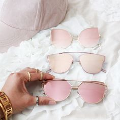 PINK OBSESSION // SHOP THESE SUNGLASSES NOW AT WWW.TEEANDING.COM