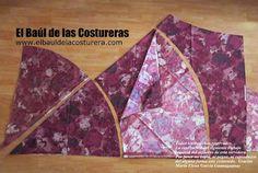 Patrón costura falda circular para vestido vintage estilo años 50