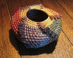 Coiled Pine Needle Basket-handcrafted