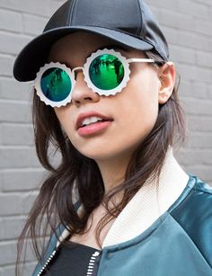 Flirty Festival Shades - These Mirrored Shades Boast a Polarized Lens and Floral Frame (GALLERY)