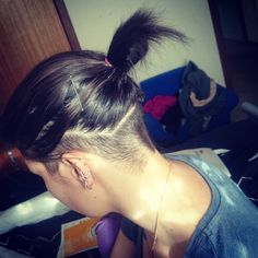 """New haircut #undercut #undershave #hairinspiration #hairenvy #longbutshort…"