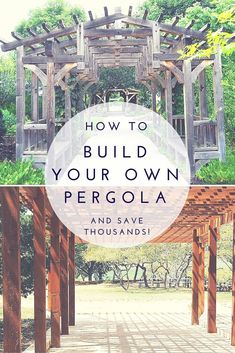 How To Build Your Own Pergola and Save Thousands - A pergola adds a unique and beautiful element to your garden and it's just the thing to bring your back yard landscaping to life. #buildyourowndeck