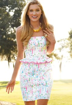 Lilly Pulitzer Spring '13- Lowe Dress in Resort White Pop                                                                                                                                                                                                                                                                                                                                                                                                                                                                                                                                                             Lilly Pulitzer
