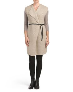 Wool Blend Sleeveless Cardigan